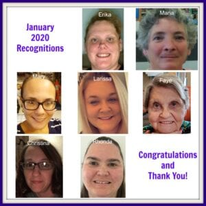 January 2020 Caregiver Recognition